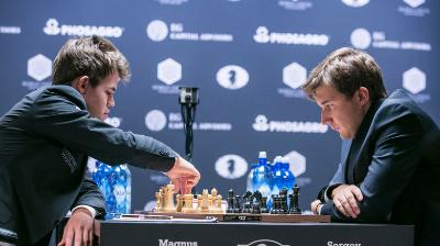 World Chess Championship 2016 Carlsen and Karjakin r.8